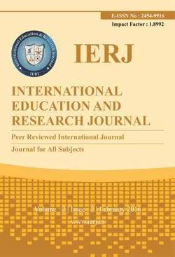 international education  research journal journal index