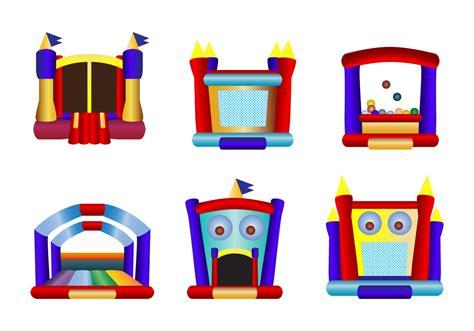 Children Bounce House Icon Vectors