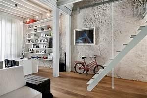 Deco Mur Interieur Moderne : id es d co de murs en briques pour votre int rieur ~ Teatrodelosmanantiales.com Idées de Décoration