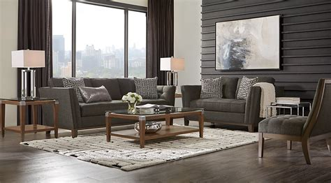 Black, Brown & Charcoal Living Room Decorating Ideas