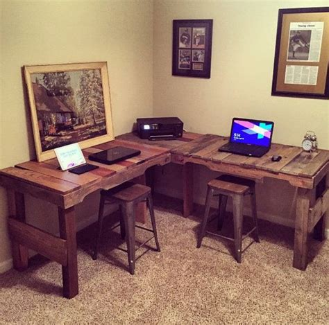 farmhouse l shaped desk great diy pallet farm table desk pallets desks and