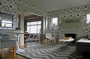 Tapeten Muster Wände : wohnzimmer tapeten ideen wie sie die wohnzimmerw nde beleben ~ Markanthonyermac.com Haus und Dekorationen