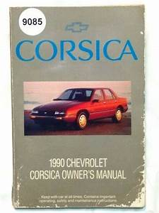 1990 90 Chevy Chevrolet Corsica Owners Owner U0026 39 S Manual