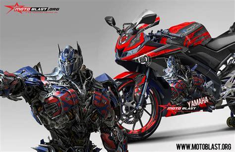 modifikasi striping all new yamaha r15 black transformer optimus prime motoblast