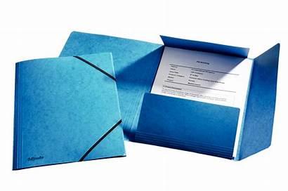 Esselte Teczka Gumkami Folders Niebieska Kartonowa A4