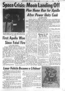 Apollo 13 is crippled while in space in 1970 - NY Daily News