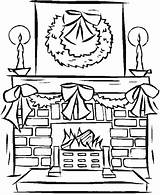 Fireplace Christmas Coloring Pages Drawing Window Fireplaces Adult Colouring Sheets Freecoloringpagefun Decorations Templates Holiday Printables Clipartmag Fireplace4 Holidays sketch template