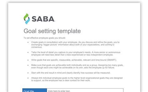 employee goal setting template employee goal setting template resources