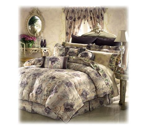 croscill chambord california king comforter set qvc com