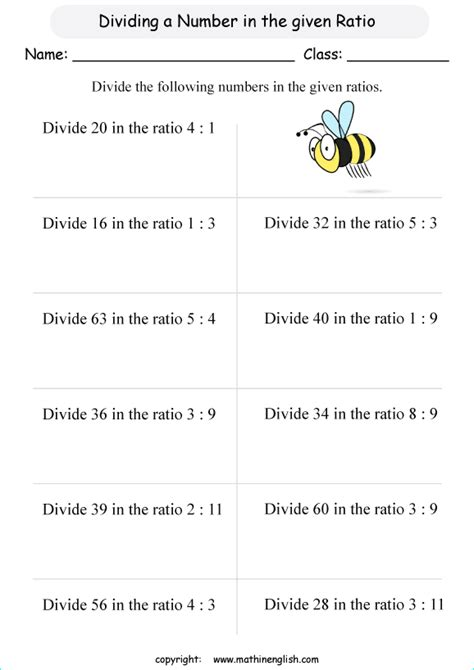 divide the following basic numbers in the given ratios
