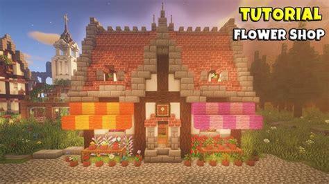 minecraft flower shop tutorial medieval town