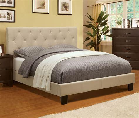 Kmart King Size Headboards by Furniture Of America Harmen Upholstered Platform Bed