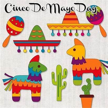 Mexican Clipart Pinata Fiesta Clip Mayo Cinco