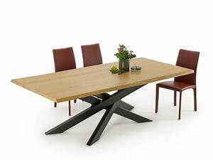 Table Pied Croisé : table moderne avec pieds crois s connor wood homeplaneur ~ Teatrodelosmanantiales.com Idées de Décoration