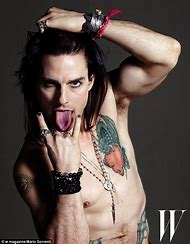 Tom Cruise as Stacee Jaxx Rock of Ages in The
