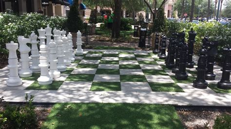 chess set across the from the theater 244 | o