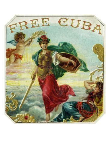cuba brand cigar box label poster  lantern press