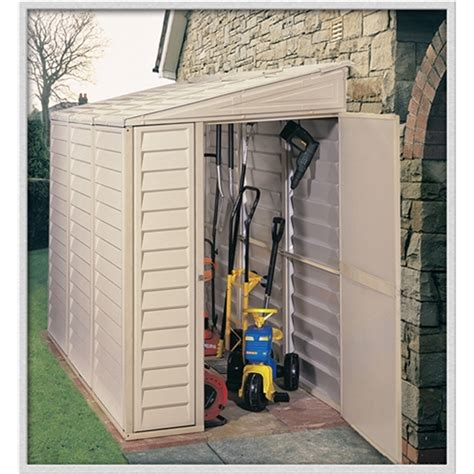 4 x 8 Select Duramax Plastic Sidemate Pvc Shed With Steel