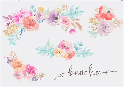 free watercolor clipart watercolor flowers clip by angie makes
