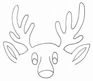 free coloring pages With template for reindeer antlers
