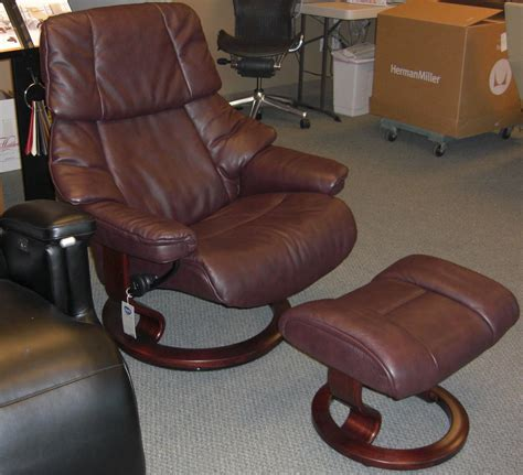 Leather Sofa With Recliner by Stressless Reno Power Legcomfort Classic Wood Base