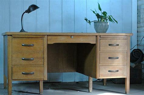 Antique Teachers Desk Ebay by Vintage Oak Teachers Desk Pedestal Territory