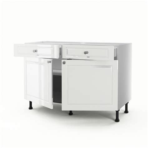 meuble bas cuisine 2 portes 2 tiroirs meuble de cuisine bas blanc 2 portes 2 tiroirs chelsea h