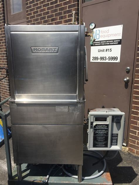 hobart   commercial pass  high temp dishwasher