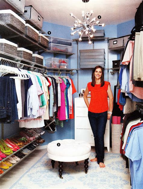 walk in closet makeover as shown in real simple magazine
