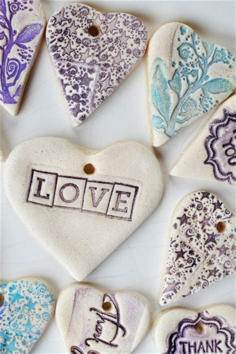 diy wedding favors salt dough tags