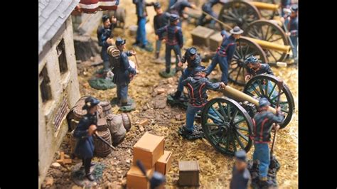 military miniatures gettysburg battle civil war video artillery  cavalry toy soldiers youtube