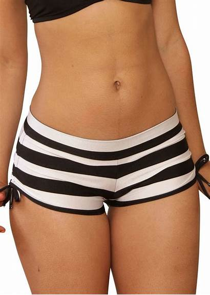 Shorts Cheeky Sassy Assy Tie Side Striped