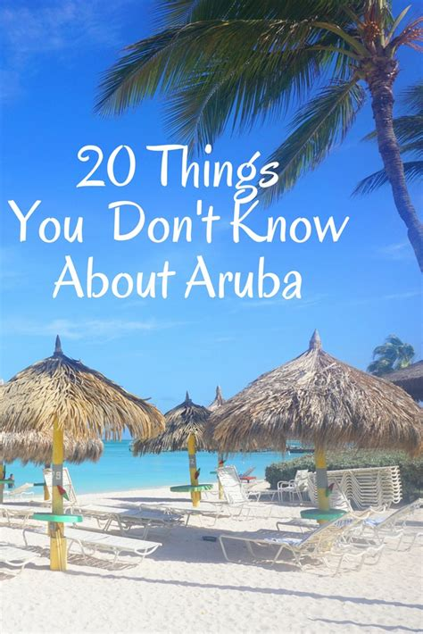 20 Things You Probably Don't Know About Aruba  52 Perfect