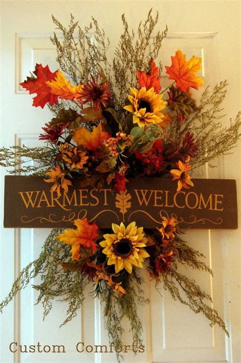 Warmest Welcome Fall Wreaths for Front Door