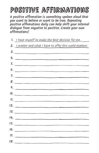 All Worksheets » Positive Affirmation Worksheets  Printable Worksheets Guide For Children And