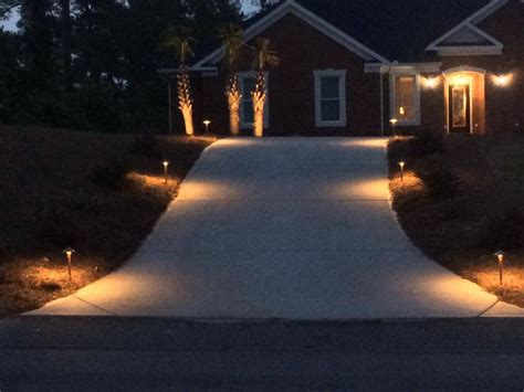 outdoor christmas driveway lights outdoor lighting makes a grand entrance in forest acres