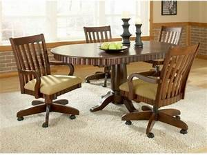 Caster Dining Room Chairs Dining Room Table Sets With