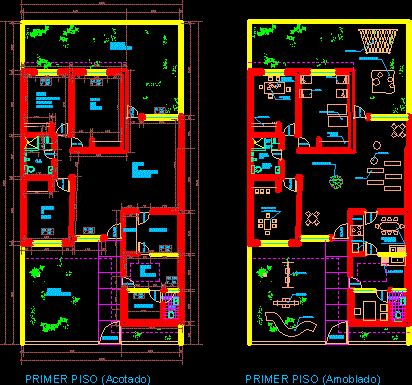early child stimulation rooms  dwg plan  autocad
