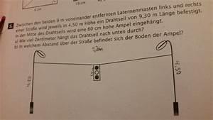 Kathetensatz Berechnen : satz des pythagoras laternenmasten und ampel mathelounge ~ Themetempest.com Abrechnung