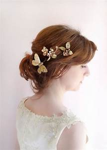 Bronze Gold Hair Jewelry Bridal Hair Pins Formal Hair