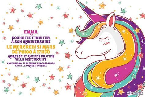 constellation de la licorne carte invitation