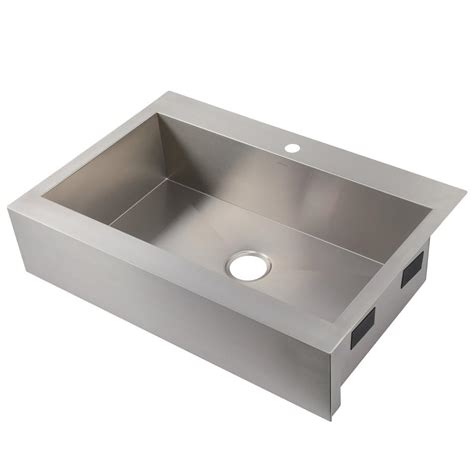 kohler stainless steel sink and faucet package kohler vault drop in farmhouse apron front stainless steel