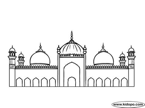 Coloring Mosque by Mosque Coloring Pages Learny