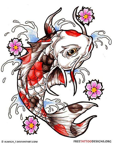 koi fish tattoos japanese  chinese designs