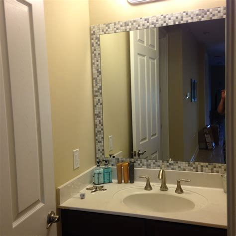 Bathroom Mirror Adhesive by Take Self Adhesive Tiles Bought From Homedepot And Add