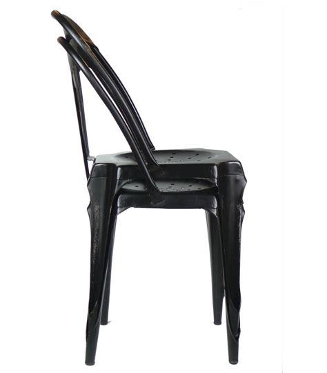 chaise metal noir chaise style industriel en métal vintage noir wadiga com