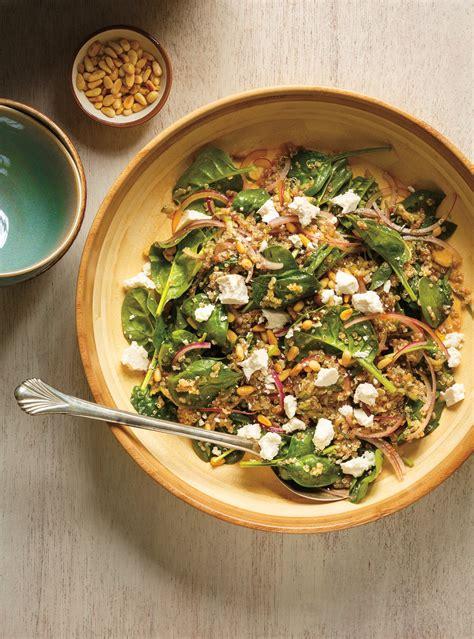 article de cuisine ricardo salade de quinoa de ricotta d 39 épinards et d 39 oignons