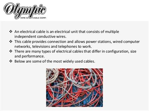 Olympicwire.com Common Types Of Electrical Cables