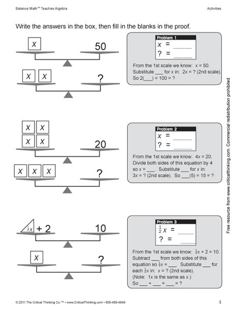 math critical thinking worksheets education world