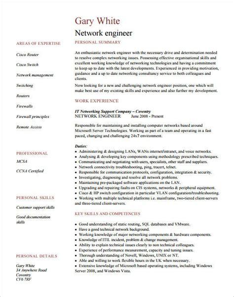 network engineer resume templates psd
